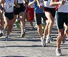 Deelnemers aan de marathon