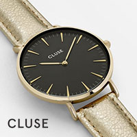 Cluse horloge - La Boheme Zwart/Goud/Metallic