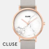 Cluse horloge - La Roche Wit Marmer/ Rosé Goud/Taupe
