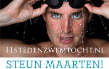 Steun Maarten van de Weijden - 11 Steden Zwem Marathon